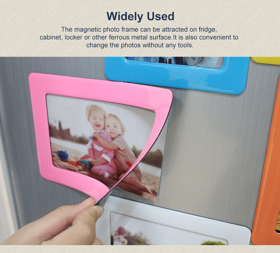 aliexpress com buy decorative magnetic crystal photo frame fridge