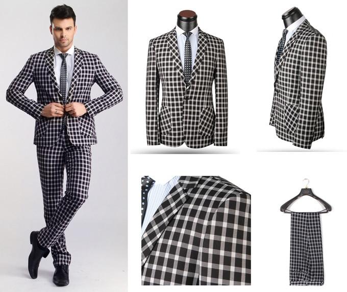 Aliexpress.com : Buy New Fashion High Quality Mens Plaid Suits ...