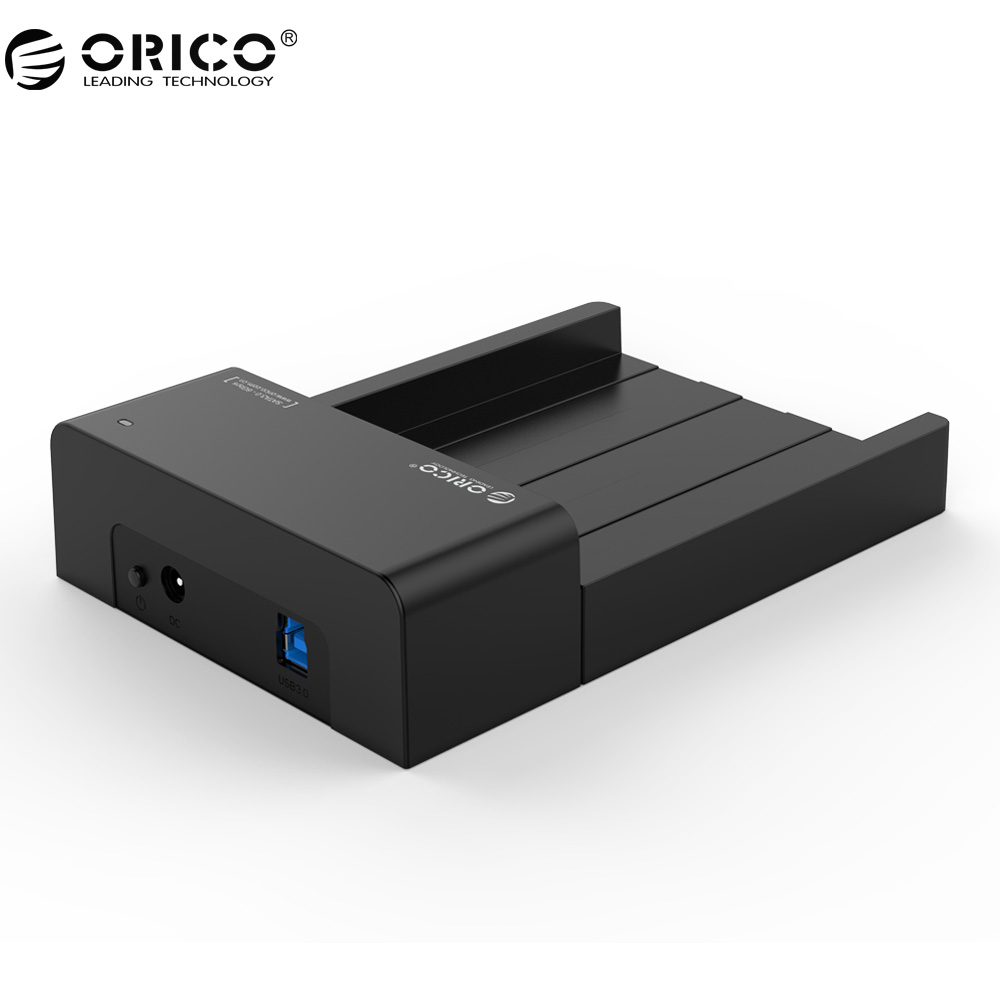 ORICO 6518US3-V2 Super Speed USB 3.0 HDD & SSD Docking Station for 2.5 & 3.5 inch hard drive SATA Support 4TB HDD-Black samsung t5 portable ssd fast speed usb 3 1 ssd drive
