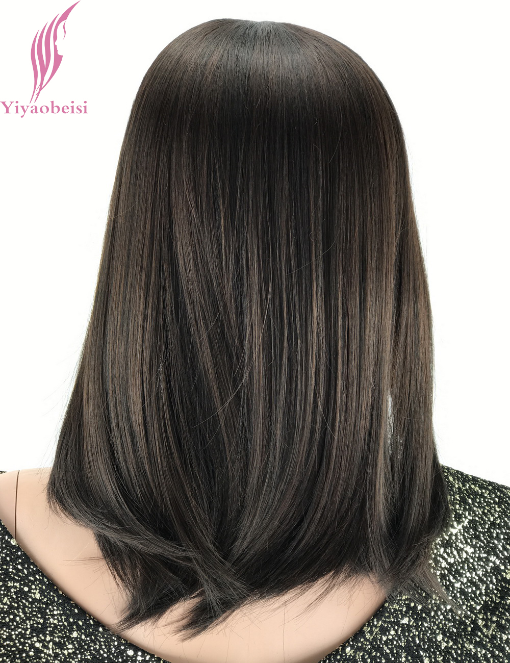 Yiyaobess 14inch Synthetic Shoulder Length Straight Medium Hair Bob