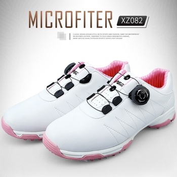 PGM 2020 Women Golf Shoes Women Rotating Shoeslace Breathable Golf Sneakers Ladies Non-slip Sports Fitness Sneakers AA51026