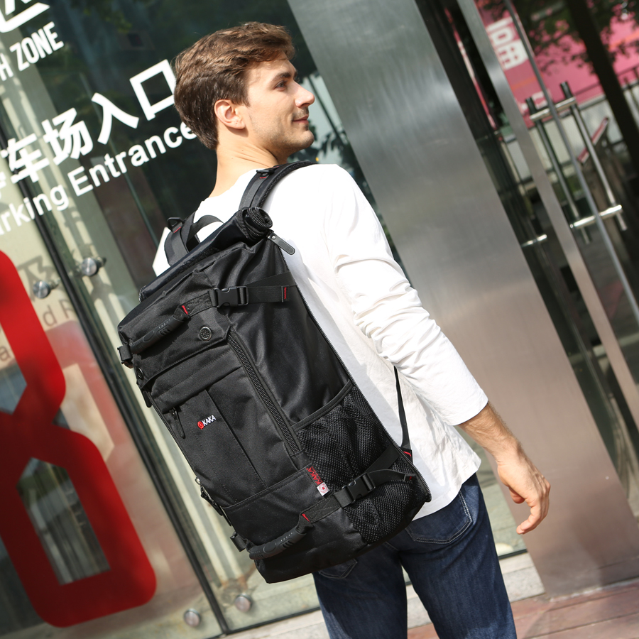 Image 2 - KAKA Brand Stylish Waterproof Large Capacity Backpack Male  Luggage Travel Shoulder Bag Computer Backpack Men Multifunctional  Baglarge capacity backpackbackpack brandbackpack male