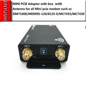 Image 5 - מארז עבור LTE מודול + אנטנה + USB + מיני PCIE מתאם עבור כל מיני pcie מודם כגון EG25 G MC7455 EP06 E EP06 A וכו