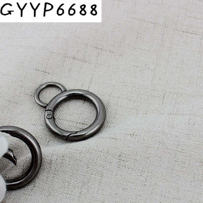 10pcs 50pcs Old Silver Inside 20mm 8 Snap Clip Trigger Spring Ring For Making Purse Bag Handbag Handle Connector