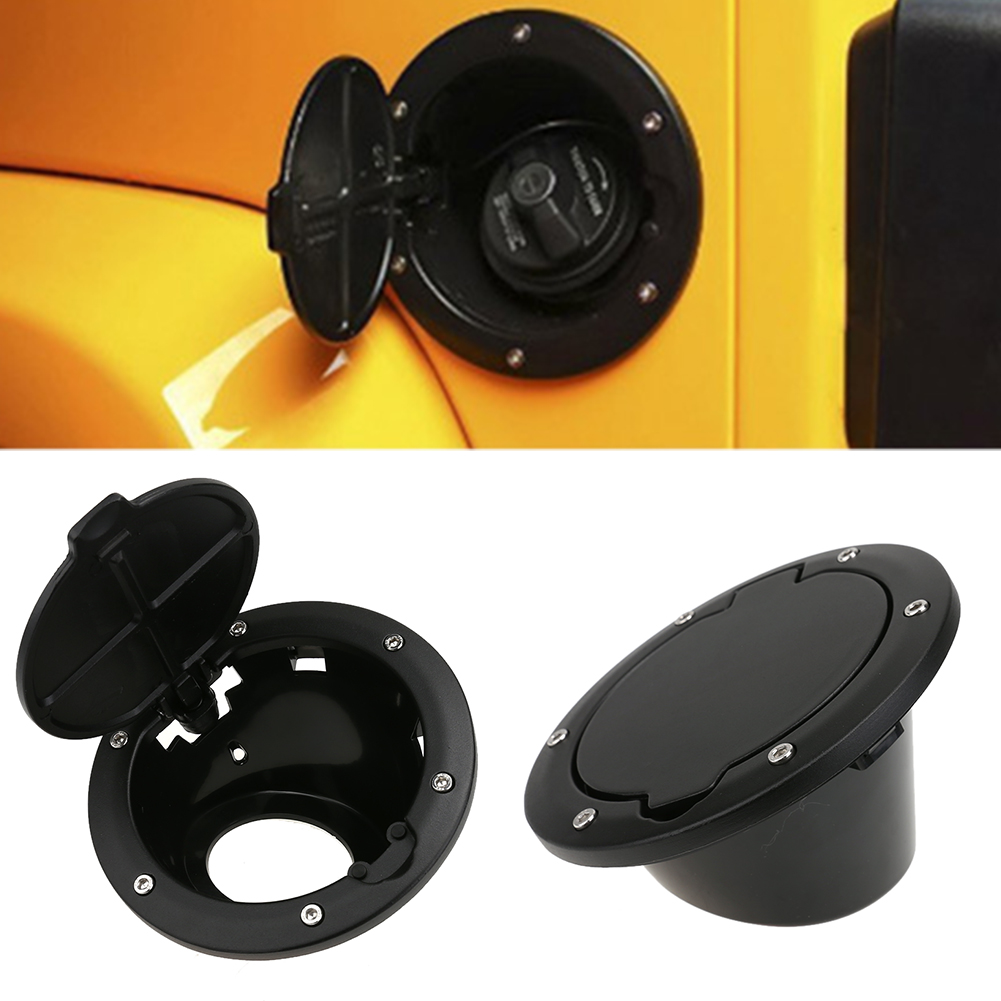 Black ABS Fuel Door Gas Tank Cover Fuel Tank Cap Car Styling Accessories Fit For Jeep Wrangler JK 07-16 2/4 Doors 2007-2016 year vertex impress lagune 4g gold