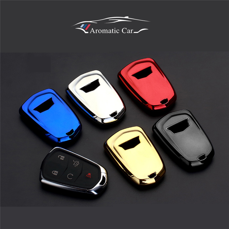TPU Car Key Cover Case Shell Bag For Cadillac CTS ATS 28T CTS-V coupe SRX Escalade srx atsl xts 2015 XT5 CT6 Car styling