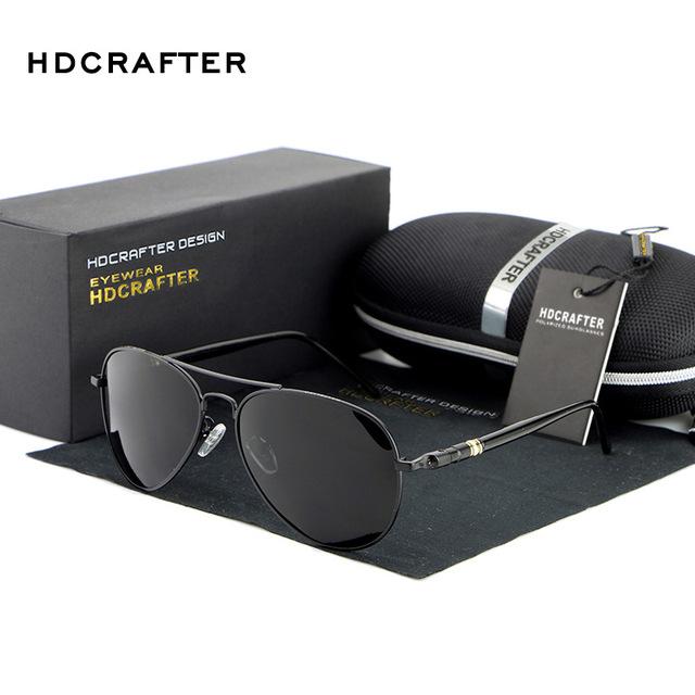 HDCRAFTER Piloto Polarizada óculos de sol dos homens da marca designer Sports Óculos de Sol Óculos de Condução Espelho Óculos de Proteção Eyewear gafas de sol