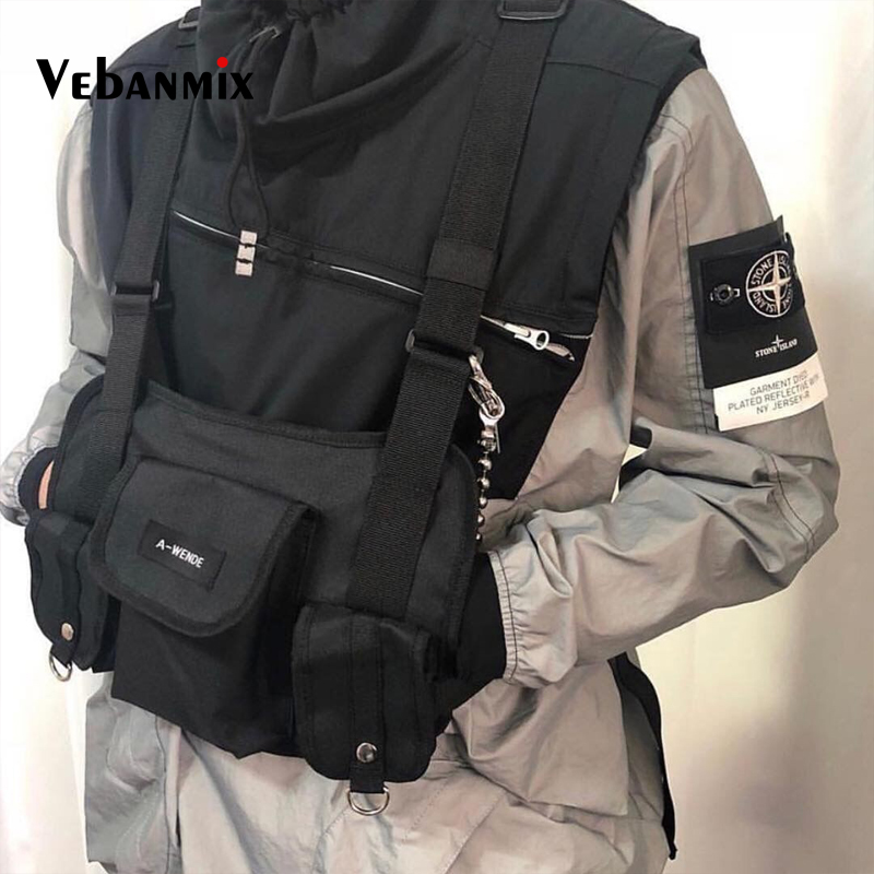 Harness Chest Front Pack Pouch Holster Vest Rig Kanye West Chest Rig Streetwear Military Tactical Chest Bag Functional Package
