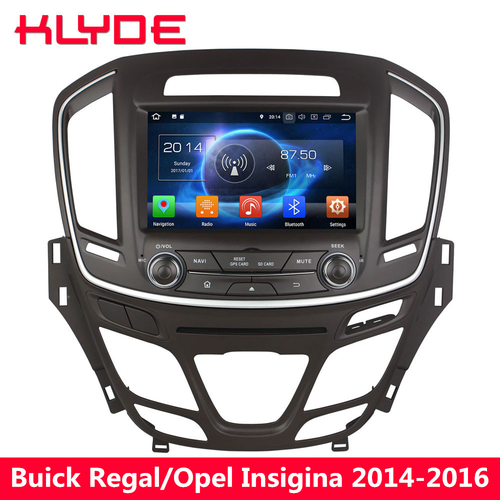 KLYDE Android 8.0 Octa Core 4GB RAM 32GB ROM Car DVD Player Radio For Buick Regal Vauxhall Insignia/Opel Insignia 2014 2015 2016 promotion 6pcs crib bedding piece set baby bed around free shipping hot sale unpick 3bumpers matress pillow duvet