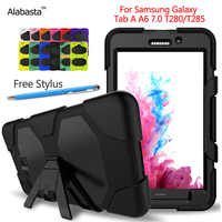Silicone Hybrid Extreme Military Heavy Duty Shockproof Stand Hang Cover CaseFor Samsung Galaxy Tab A 7