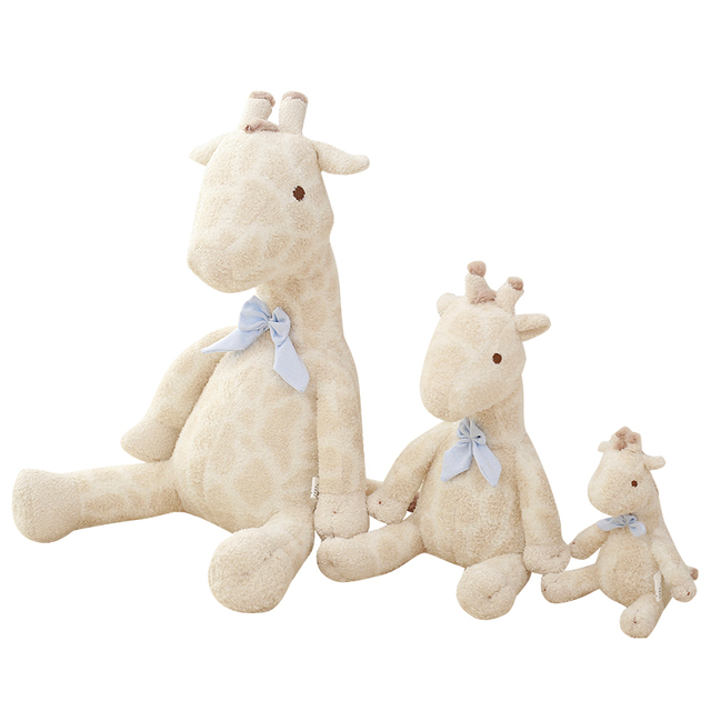 1pcs White Cute Kawaii 3d Giraffe Plush Toys For Children With Baby