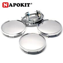 4pcs 58mm(54mm) 적합 56mm 배지 크롬 자동차 휠 림 센터 Hubcap 캡 커버 자동차 스타일링