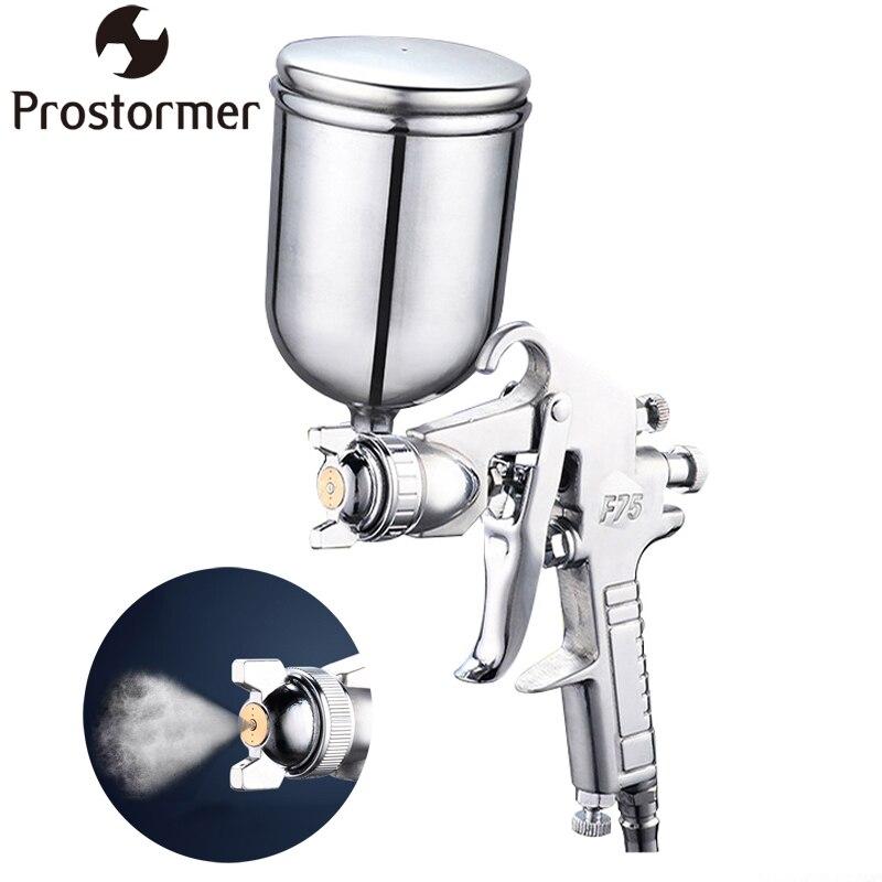 PROSTORMER profesional Pistola neumática 400 ml aerógrafo rociador de pintura del atomizador del herramienta con Hopper para coches de pintura