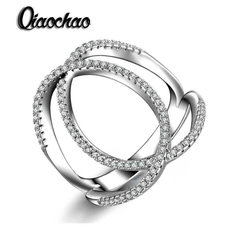 New Arrival Female Full Cross Shaped Finger Ring Tiny CZ Paved Fashion Jewelry Oval Hollow Rings For Women R208