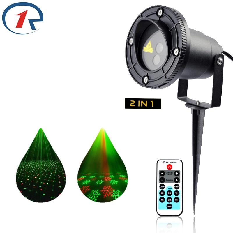 ZjRight Remote control Red Green Dynamic Christmas laser light Outdoor Waterproof laser projection lamp Bar DJ