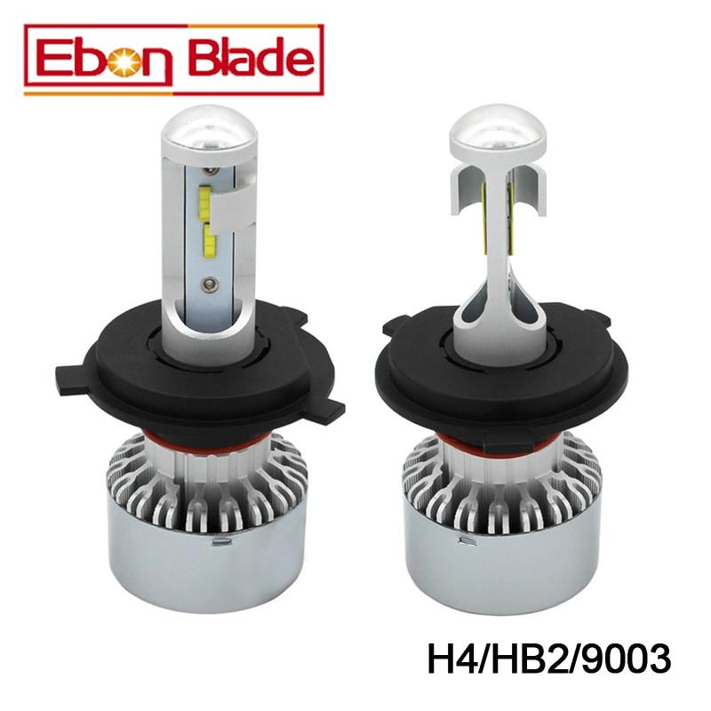 1 Pair Newest 4000LM H4 9003 HB2 CSP 60W Car LED Headlight Kit Replace Bulbs Lamp Hi/Lo Beam 6500K Cold White 12V 24V 30V DC