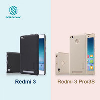 Nillkin Frosted Shield Hard Back Cover Case For Xiaomi Redmi 3 Gift Screen Protector