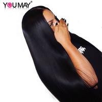 Синтетические волосы на кружеве человеческих волос парики с ребенком волосы 250% Плотность Прямо Синтетические волосы на кружеве Парики бра