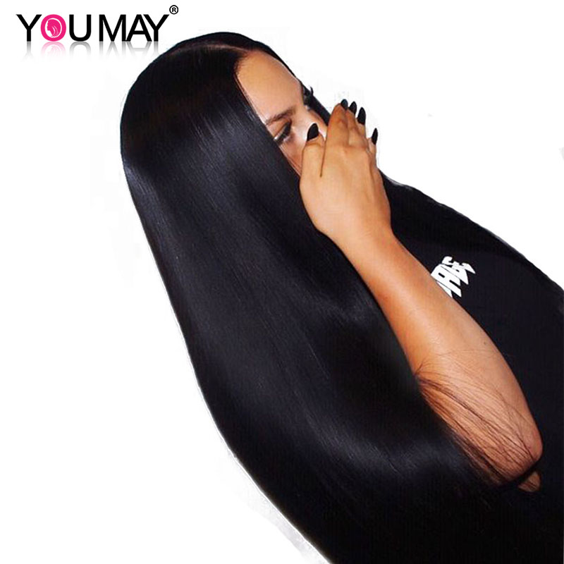 13×6 Lace Front Human Hair Wigs With Baby Hair 250% Density Straight Lace Front Wigs Brazilian Remy Hair Bleached Knots You May