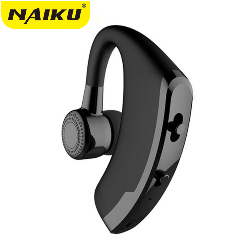 NAIKU V9 Handsfree Business Bluetooth Headphone With Mic Voice Control Wireless Bluetooth Headset For Drive Noise Cancelling business bluetooth earphone v8 noise cancelling voice control handsfree wireless bluetooth headphone sport office music headset