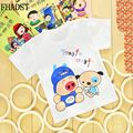 New clever Baby 0-2 year Boys Girls Tshirt Short Sleeve 100%Cotton T-shirt tees Kids Summer Clothes Unisex Character Cute monkey
