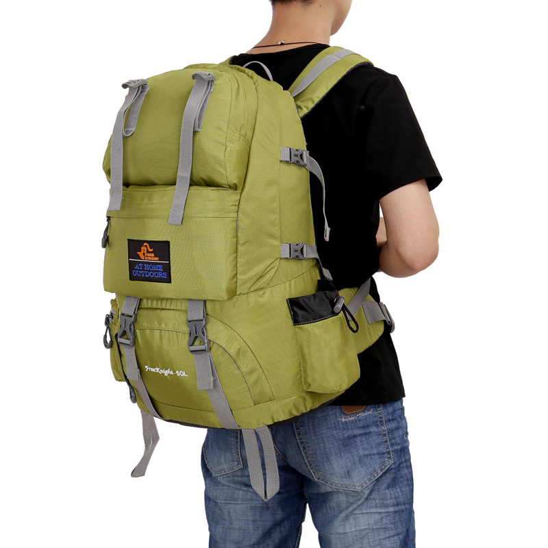 Camping Hiking  50 L Waterproof Outdoor Mountaineering Bag  Large Capacity Outdoor Sport Backpack  for Men Women Males Teenagers outdoor large capacity bag backpack waterproof laptop backpack fashion school travel bags for men women boys girls hiking sport