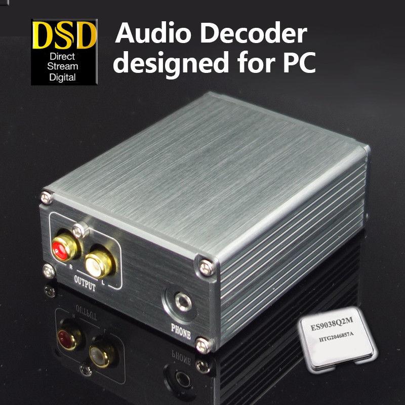 Nobsound XMOS U208 ES9038Q2M PC Audio Decoder DAC Headphone Amplifier DSD 32BIT 384K