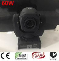Mini Spot 60W LED Moving Head Light With Gobos Plate&Color Plate,High Brightness 75W beam Led Moving Head Light DMX512