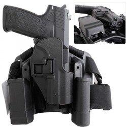 HK USP Kompak CQC Taktis Kaki Drop Sarung Pistol Majalah Kantong Aksesoris Berburu Airsoft Pistol Pistol Tangan Case Pemegang