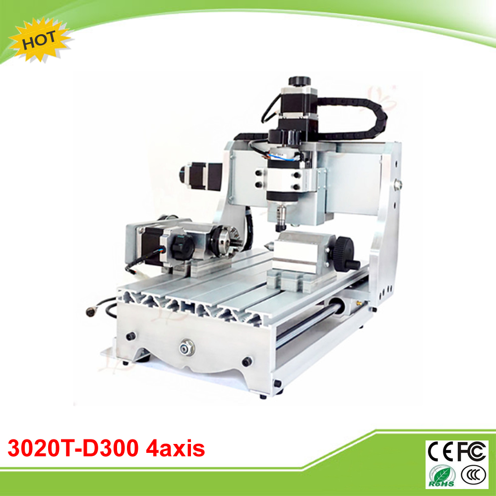 CNC 3020T-D300 4 axis mini CNC milling machine free tax to RU eur free tax cnc 6040z frame of engraving and milling machine for diy cnc router