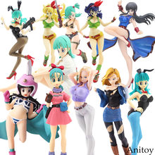 Dragon Ball Z Bulma Dragonball Lunchi Bulma Chichi Lazuli Gals Android NO.18 Girls Ver.III Action Figure Collection Model Toys(China)
