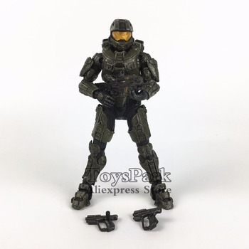 "ToysPark Halo Master Chief 5"" Action Figure Mcfarlane Halo Series Collectible Loose No Retail Box"