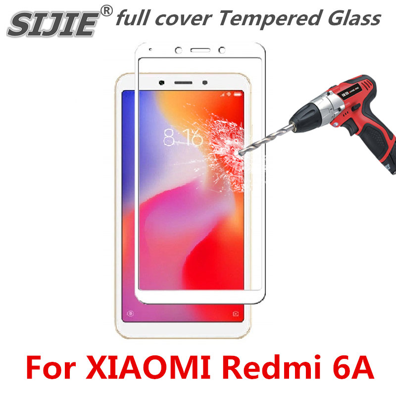 full cover Tempered Glass For xiaomi redmi 6A 6 A redmi6A screen protective toughened case fit in on frame edges Suitable