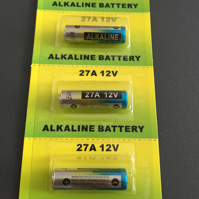 5x Wama 27A A27 12V Alarm-Remote Dry Alkaline Battery Cells 27AE 27MN Car Remote Watch Toy Calculator