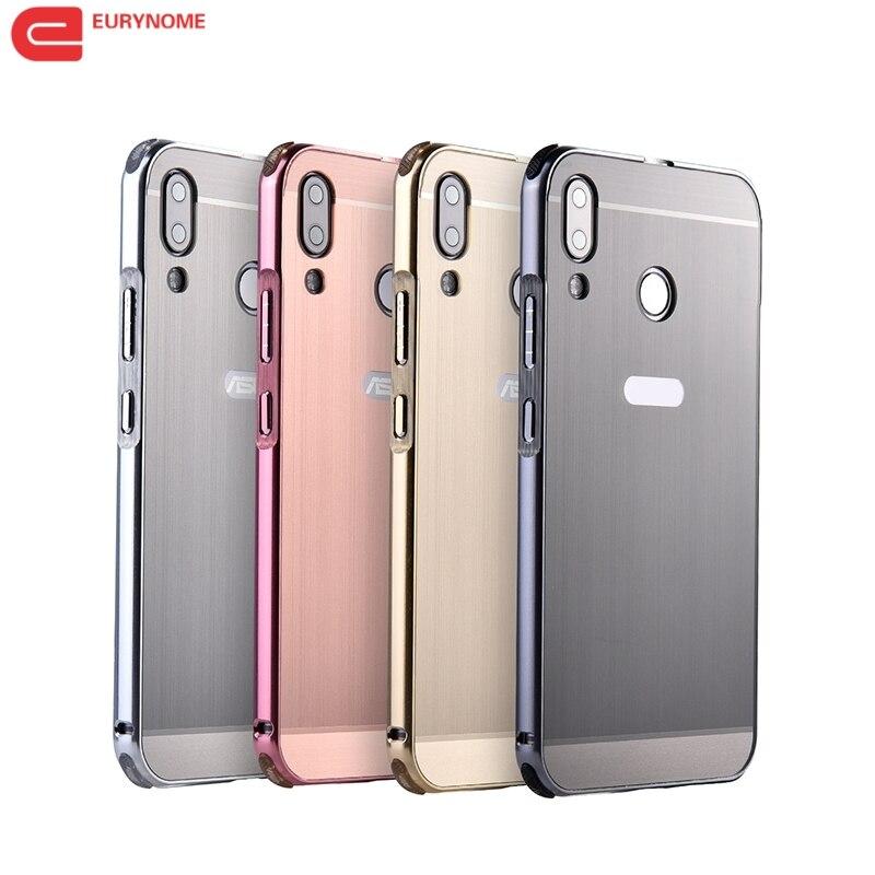 LuxuOriginal couverture pour Zenfone 5Z ZS620KL En Métal En Aluminium cadre Carbone fiber En Plastique retour cas Pour ASUS Zenfone 5 ZE620KL + stylo