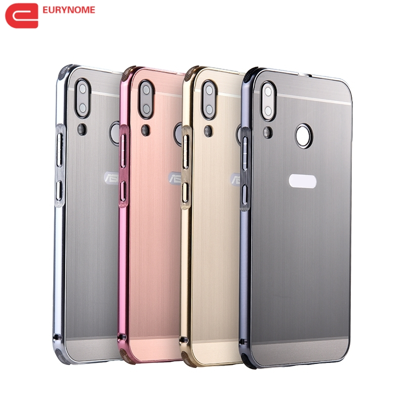 LuxuOriginal cover for Zenfone 5Z ZS620KL Metal Aluminum frame Carbon fiber Plastic back case For ASUS Zenfone 5 ZE620KL + pen