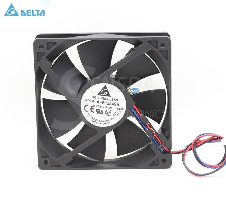 Delta AFB1224SH 12025 120mm 12cm DC 24V 0.42A tempreture sensor 3-pin server inverter cooling fans axial
