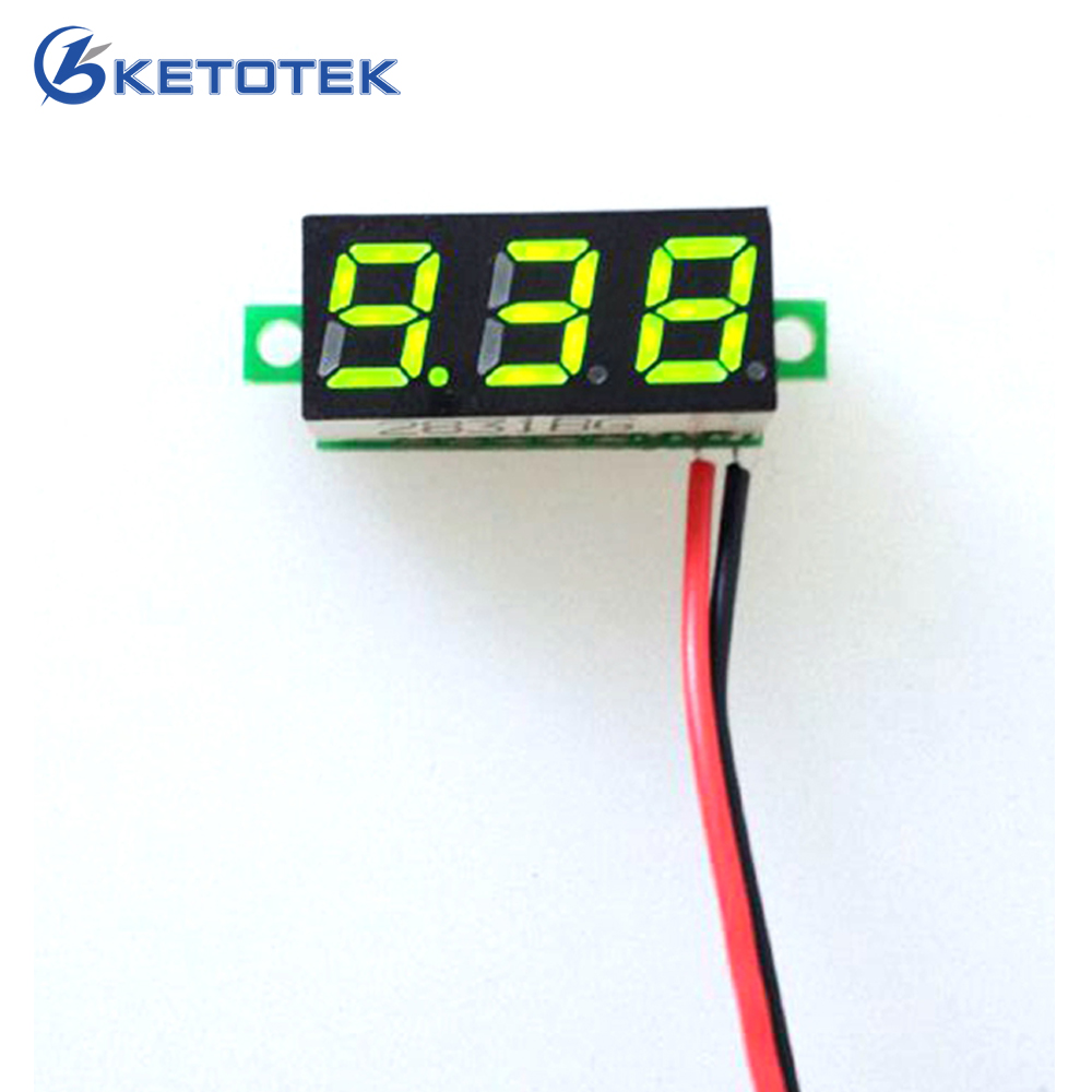 1PCS Free Shipping New 0.28 DC 3.5-30V Super Mini Digital Green LED Car Voltmeter Voltage Volt Panel Meter battery monitor 3 in 1 multifunctional car digital voltmeter usb car charger led battery dc voltmeter thermometer temperature meter sensor
