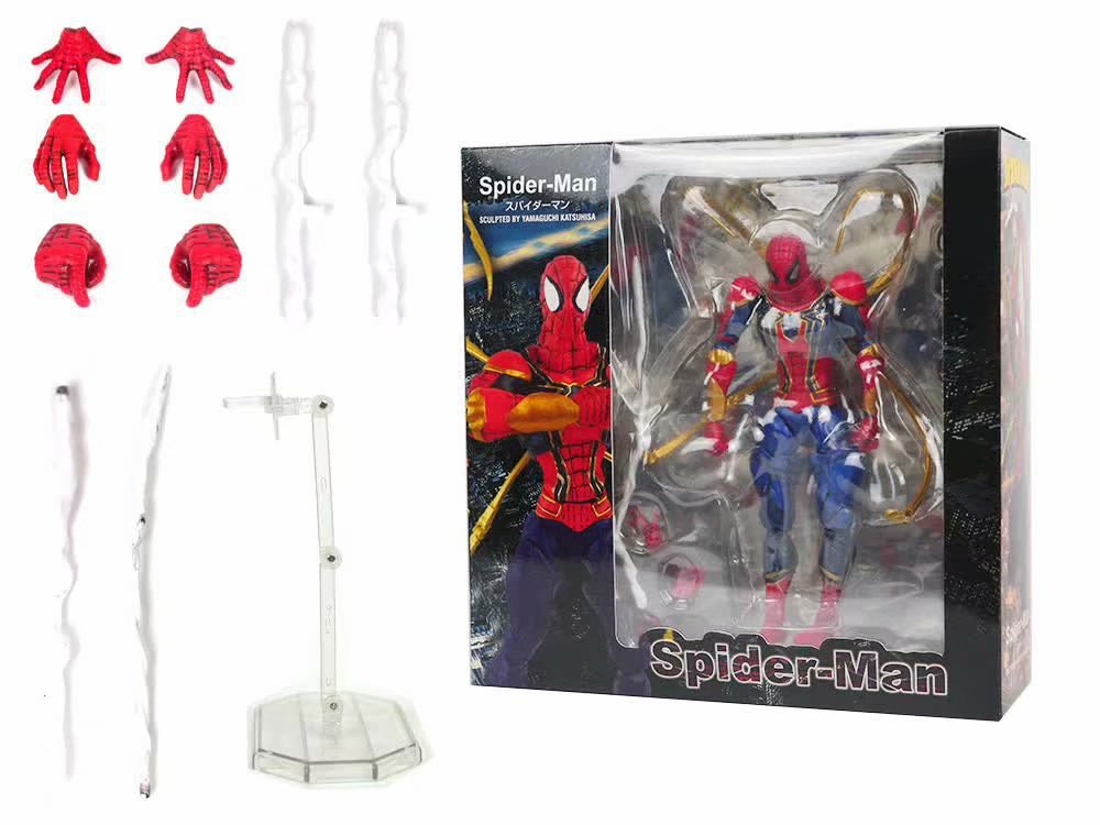 DC Amazing yamaguchi revoltech Iron Spider-Man PVC Action Figure Collection Model Toy GiftsDC Amazing yamaguchi revoltech Iron Spider-Man PVC Action Figure Collection Model Toy Gifts
