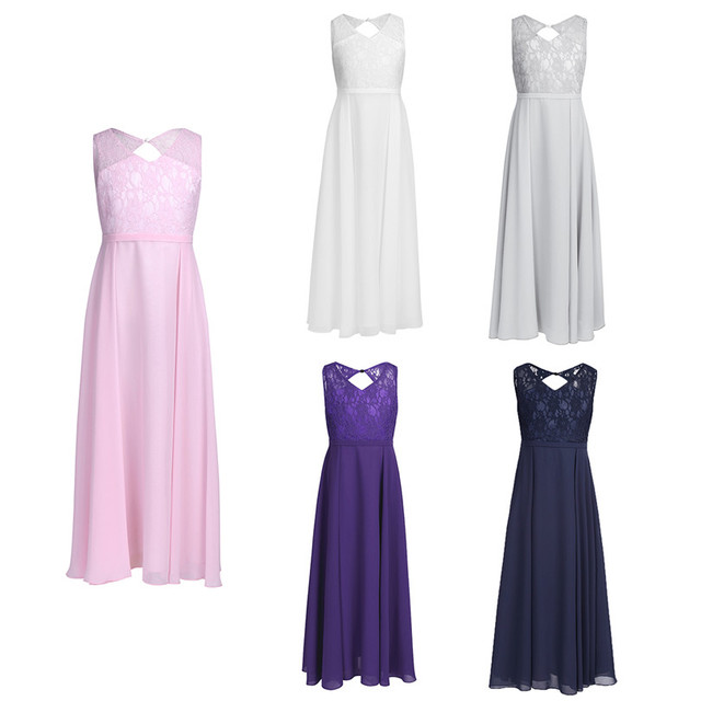 Lace Chiffon Girls Occasion Dresses