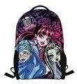 2016 nuevo Monster High niños mochila mochila de dibujos animados estudiante de la escuela mochila niños niñas niños bolsas mochilas escolares para el grado 1-3