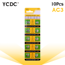 Cheap lr41 battery 10x LR41 AG3 392A SR41SW 384 LR736 V3GA 192 1.55V Cell Battery Watch Button Coin pile pilas boton