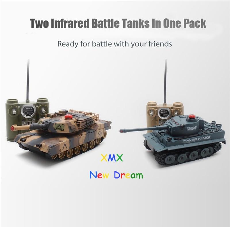 508. Simulatie van twee sets van infrarood draadloze afstandsbediening twin-tank pak voor kinderen Boy Gift Boy's speelgoed