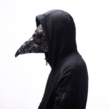 Steampunk Plague Bird Mask Doctor Long Nose Cosplay Fancy rivet Gothic Retro Rock Leather Halloween