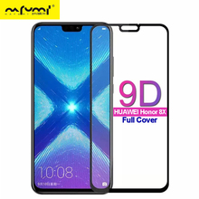 9D Tempered Glass For Huawei Honor 8X Full Cover Screen Protector for huawei honor 8x Protective Film