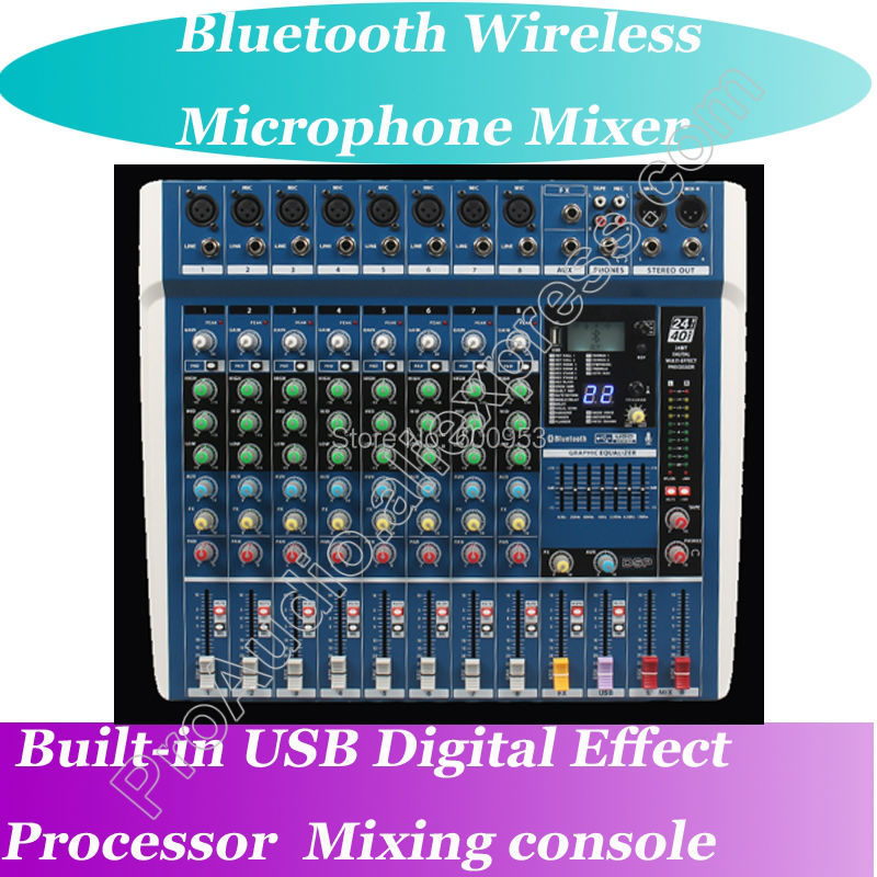 MICWL ZDR800 Bluetooth Wireless Microphone Live Studio Mixers Mixing Console Bluetooth 24-Bit Digital Effect Processor professional 4 channel live mixing studio audio sound console network anchor portable mixing device vocal effect processor