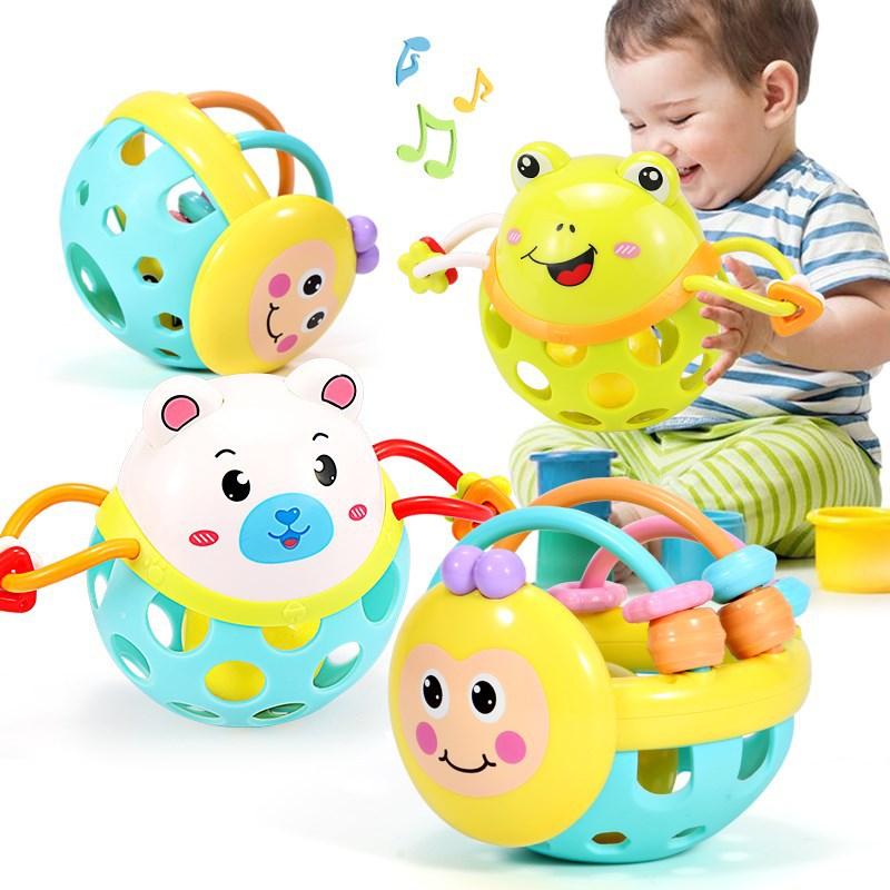 1 Stück Hand Klopfen Gummi Weiche Cartoon Bee Rassel Hantel Für Kinder Vorschule Werkzeuge Baby Frühen Pädagogisches Spielzeug Spiele Geschenke
