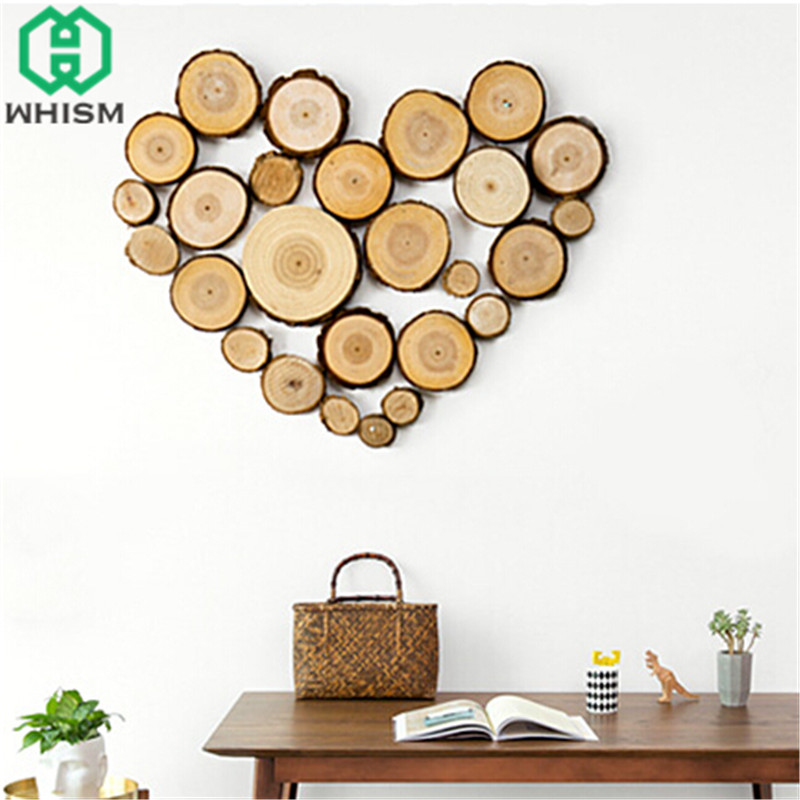 WHISM 30PCS Round Wooden Paint Slice Circle Wood Disks Cutout Scrapbook Crafts Wood Wedding Rustic Discs Party DIY Decorations