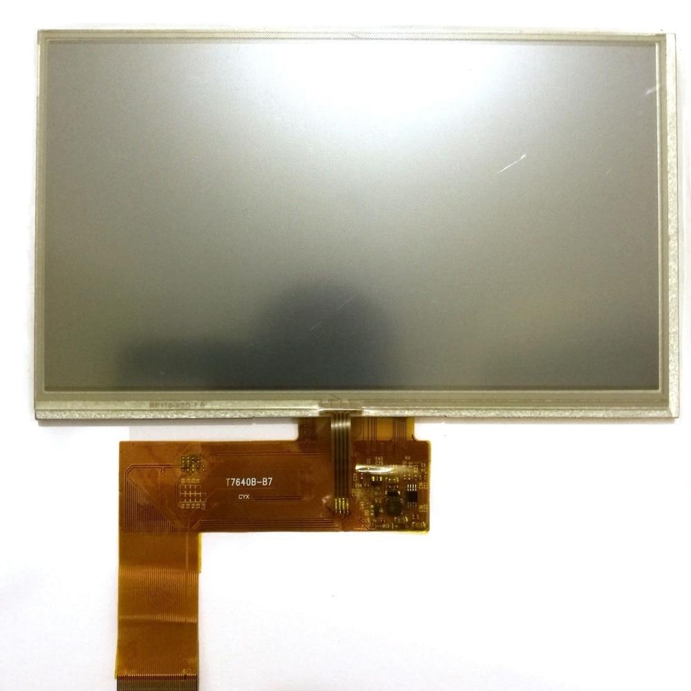 7 Inch 40 Pin Car DVD Navigation LCD Screen T7640B-B7 LCD Display Matrix Color Screen Replacement 165MM*100MM*3MM