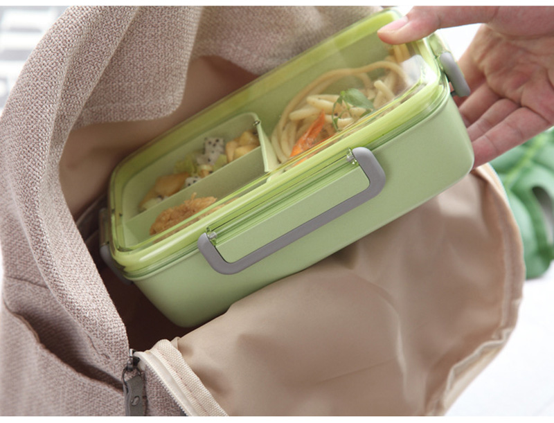 TUUTH New Microwave Lunch Box Independent Lattice For Kids Bento Box Portable Leak-Proof Bento Lunch Box Food Container A14